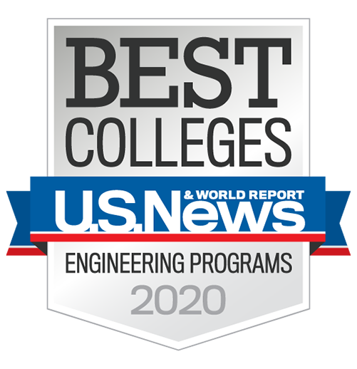 An image from U.S. News and World Reports stating that we are one of the best colleges for chemical engineering in 2019.