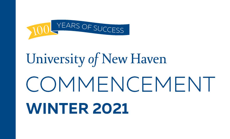 Image of the cover of the virtual commencement program