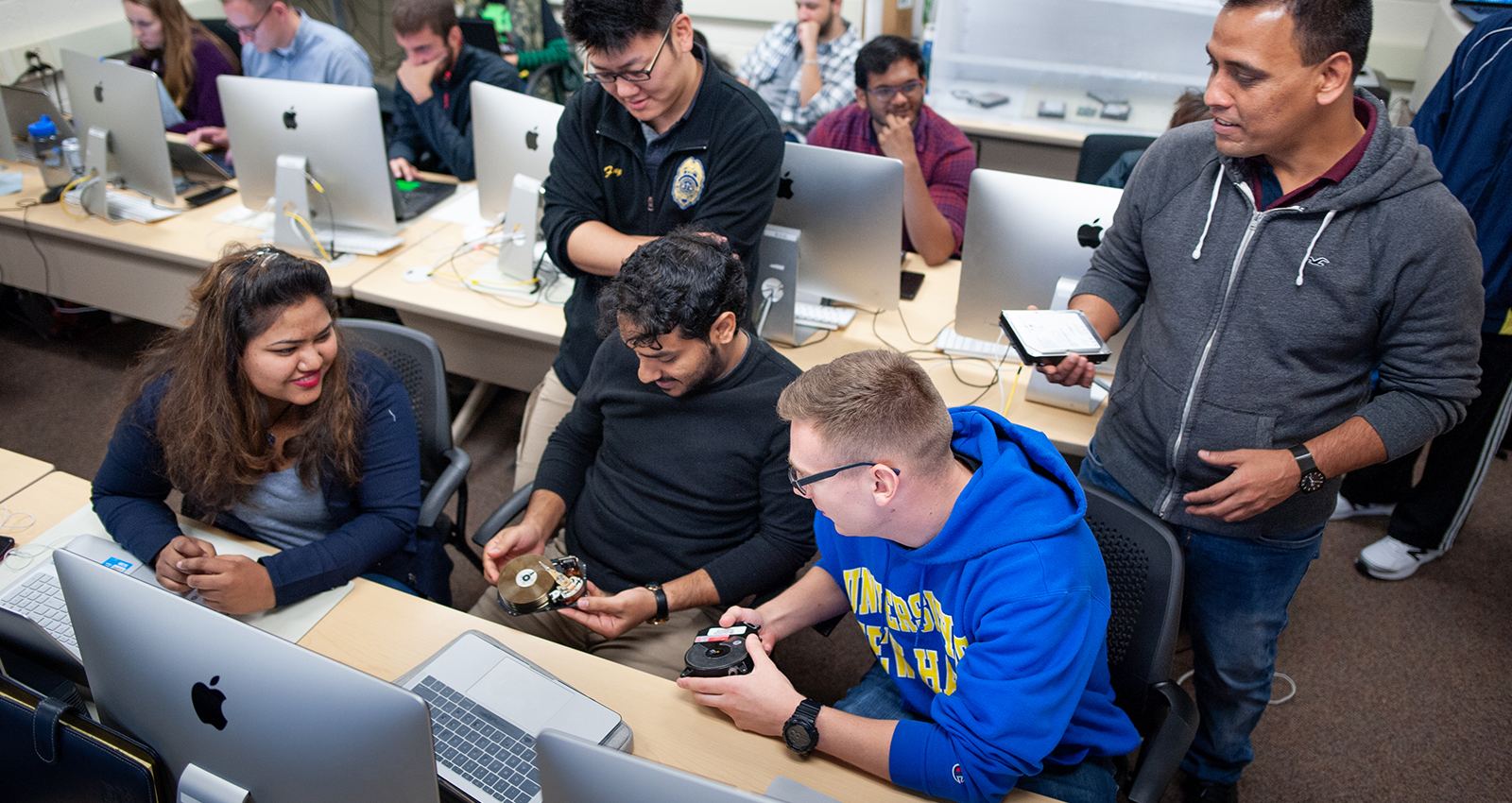 Image of cybersecurity students