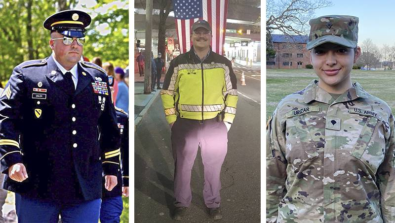 Collage of 3 military members from the University of New Haven