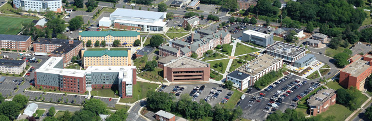 Aerial image of the University of New Haven