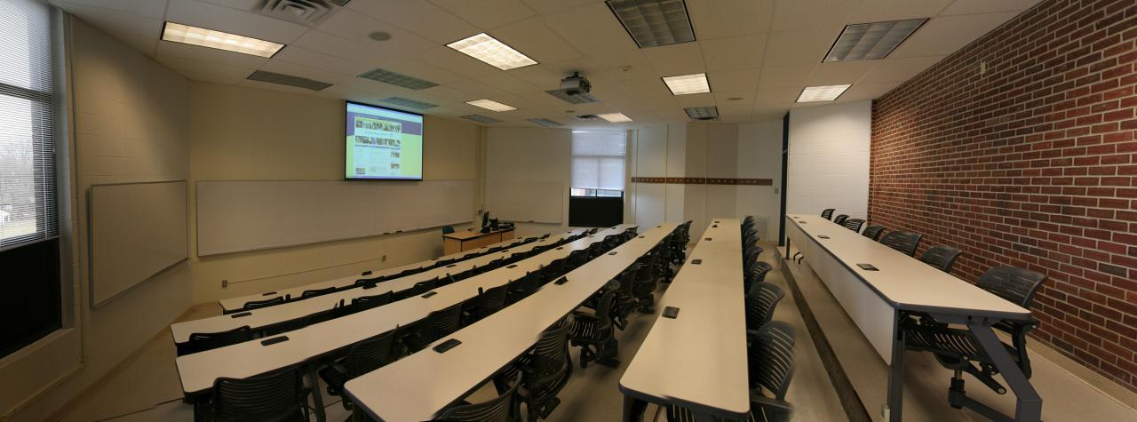 Classroom located in Kaplan hall