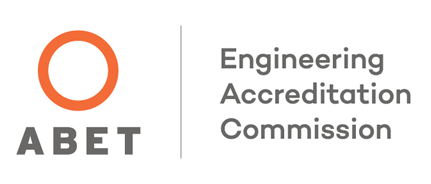 An image of the Engineering Acredditation Commission (ABET) logo.