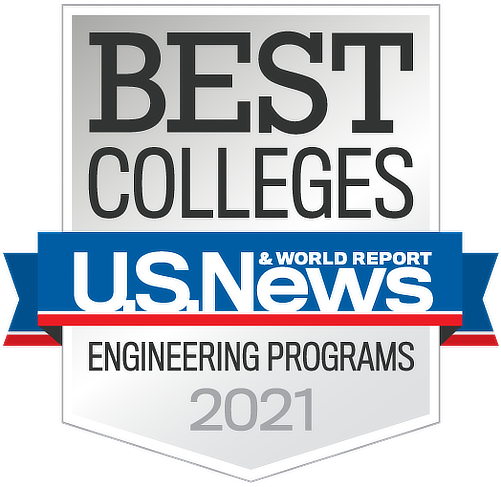 An image from U.S. News and World Report stating that we are one of the best industrial systems engineering colleges of 2019.