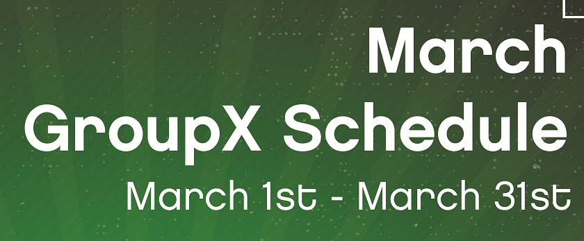 Check out our March GroupX Schedule!