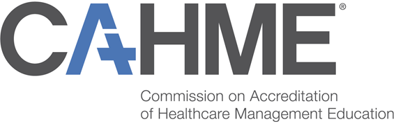 Commission on the Accreditation of Healthcare Management Education (CAHME) logo
