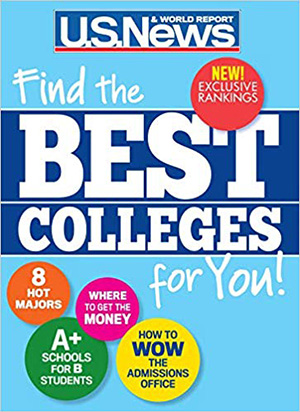 Image of U.S. News & World Report Best Colleges 2020 cover.