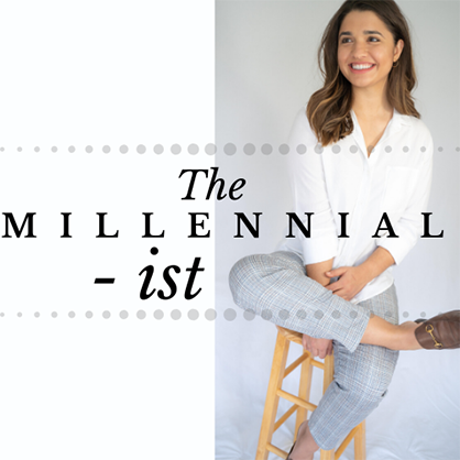 Image of The Millennial-ist Podcast logo.