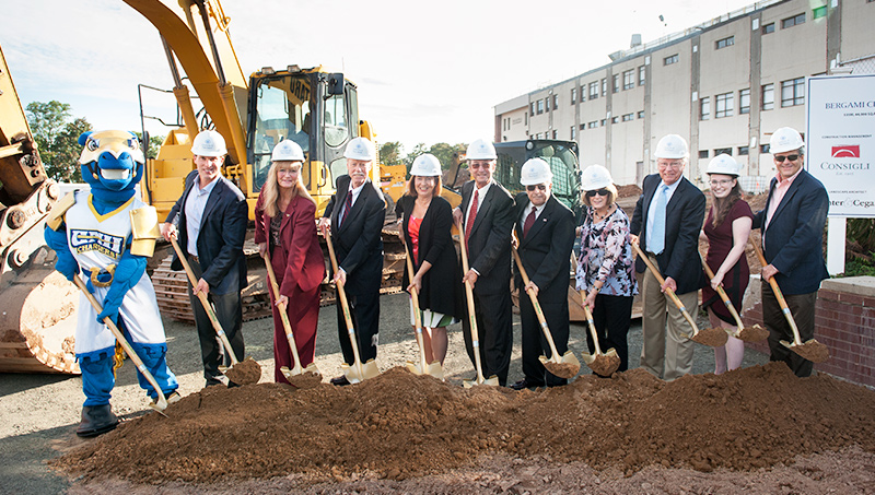 Photo of the Bergami Center for Science, Technology, and Innovation groundbreaking