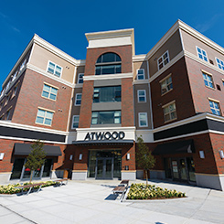All industrial organizational psychology graduate program students can live in The Atwood.