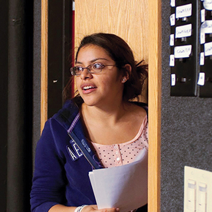 An image of communications alumnus, Jessica Pena. She experienced professional training in communication and media studies with state-of-the-art facilities and real-world experience.